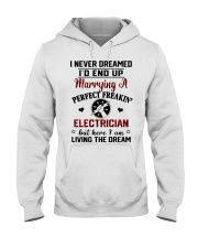 Marrying a perfect freaking Electrician Hooded Sweatshirt front