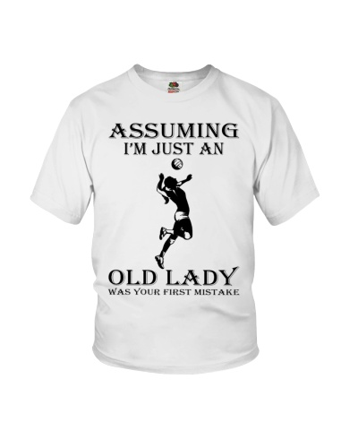 volleyball old lady black