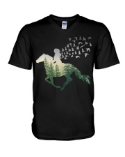 Beware I ride horses V-Neck T-Shirt thumbnail