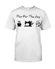 sewing coffe and wine plan Classic T-Shirt thumbnail