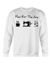 sewing coffe and wine plan Crewneck Sweatshirt thumbnail