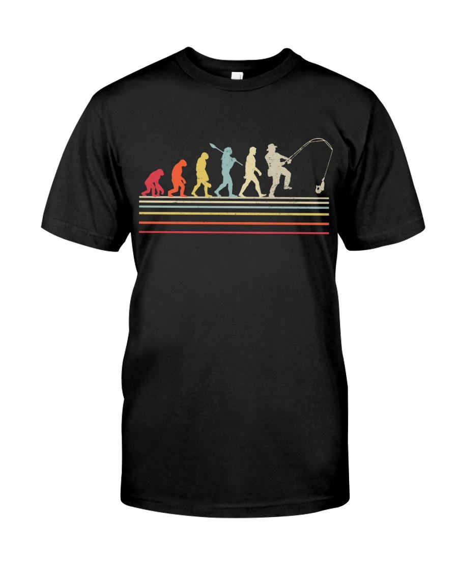 Retro Fishing Shirt Evolution Fisherman Classic T-Shirt