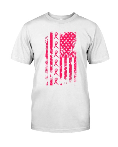 us flag breast cancer ribbon