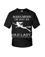 scuba diving assuming Youth T-Shirt thumbnail