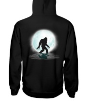 Funny bigfoot hand gesture - two side Hooded Sweatshirt back