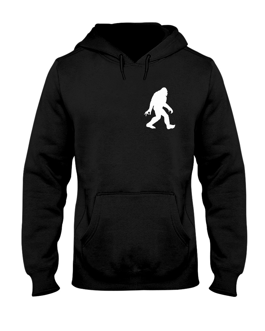 Funny bigfoot hand gesture - two side Hooded Sweatshirt