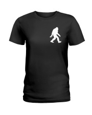 Funny bigfoot hand gesture - two side Ladies T-Shirt thumbnail