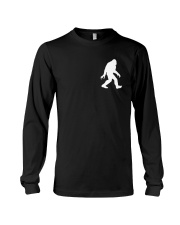 Funny bigfoot hand gesture - two side Long Sleeve Tee tile