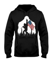 Bigfoot No1 USA flag Hooded Sweatshirt front