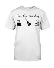 guitar coffe and wine Classic T-Shirt front