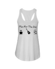 guitar coffe and wine Ladies Flowy Tank thumb