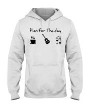 guitar coffe and wine Hooded Sweatshirt thumbnail