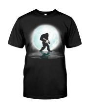 Bigfoot Gun under the moon Classic T-Shirt thumbnail