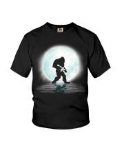 Bigfoot Gun under the moon Youth T-Shirt thumbnail