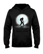Bigfoot Gun under the moon Hooded Sweatshirt front