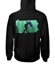 Pennsylvania - Bigfoot Flag 2 sides Hooded Sweatshirt back