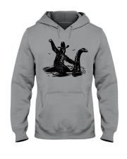 Bigfoot Riding Loch Ness Monster Hooded Sweatshirt thumbnail
