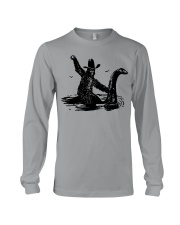 Bigfoot Riding Loch Ness Monster Long Sleeve Tee thumbnail