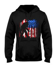 Dude I'm Right Here USA Flag Hooded Sweatshirt front
