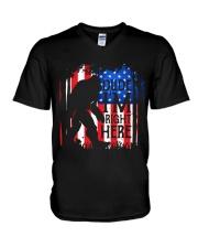 Dude I'm Right Here USA Flag V-Neck T-Shirt thumbnail