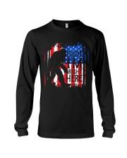 Dude I'm Right Here USA Flag Long Sleeve Tee thumbnail