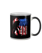 Dude I'm Right Here USA Flag Color Changing Mug thumbnail