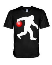 Bigfoot Bowling V-Neck T-Shirt thumbnail
