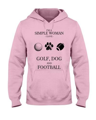 Simple Woman Love Golf Dog And Football