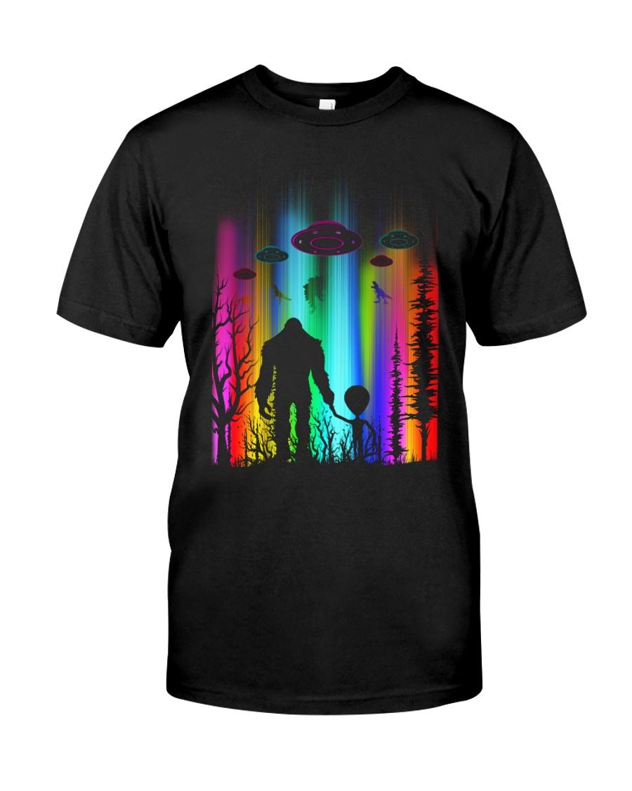 Bigfoot Forest Alien Classic T-Shirt