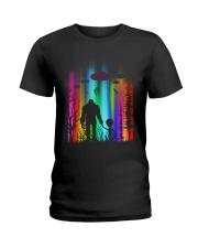 Bigfoot Forest Alien Ladies T-Shirt thumbnail