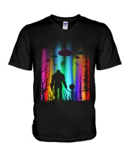Bigfoot Forest Alien V-Neck T-Shirt thumbnail
