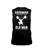 Weight lifting assuming old man Sleeveless Tee thumbnail