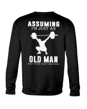 Weight lifting assuming old man Crewneck Sweatshirt thumbnail