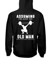 Weight lifting assuming old man Hooded Sweatshirt thumbnail