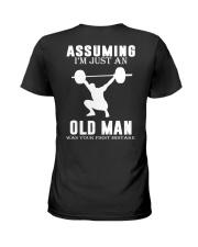 Weight lifting assuming old man Ladies T-Shirt thumbnail