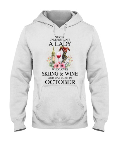 Skiing Wine Never Underestimate a Lady - October