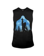 Bigfoot middle finger in the forest ver blue moon Sleeveless Tee thumbnail