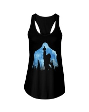 Bigfoot middle finger in the forest ver blue moon Ladies Flowy Tank thumbnail