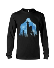 Bigfoot middle finger in the forest ver blue moon Long Sleeve Tee thumbnail