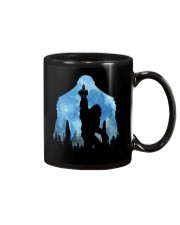Bigfoot middle finger in the forest ver blue moon Mug thumbnail