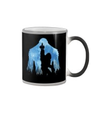 Bigfoot middle finger in the forest ver blue moon Color Changing Mug thumbnail