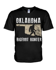 Oklahoma Bigfoot Hunter V-Neck T-Shirt thumbnail