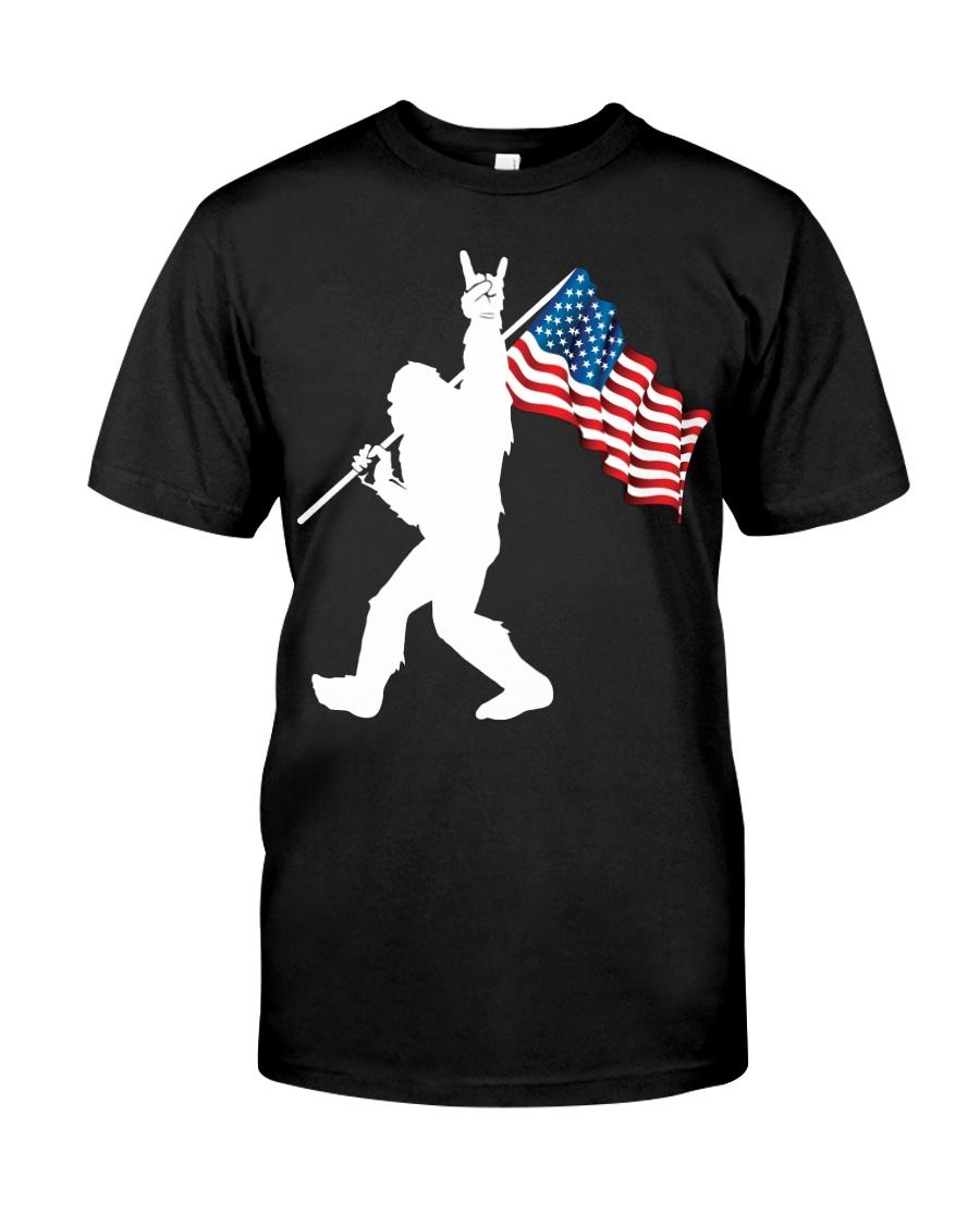 America Flag Bigfoot Classic T-Shirt