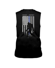 Bigfoot Thin Blue Line USA Flag Backside Sleeveless Tee thumbnail
