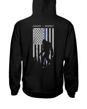 Bigfoot Thin Blue Line USA Flag Backside Hooded Sweatshirt thumbnail