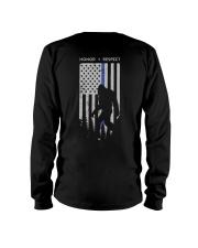 Bigfoot Thin Blue Line USA Flag Backside Long Sleeve Tee thumbnail