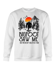 Bigfoot Saw Me 2 sale Crewneck Sweatshirt thumbnail