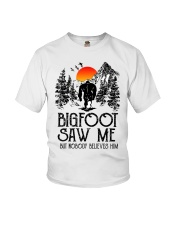 Bigfoot Saw Me 2 sale Youth T-Shirt thumbnail