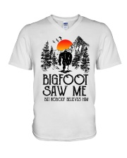 Bigfoot Saw Me 2 sale V-Neck T-Shirt thumbnail