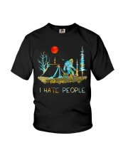 I hate people bigfoot Youth T-Shirt thumbnail